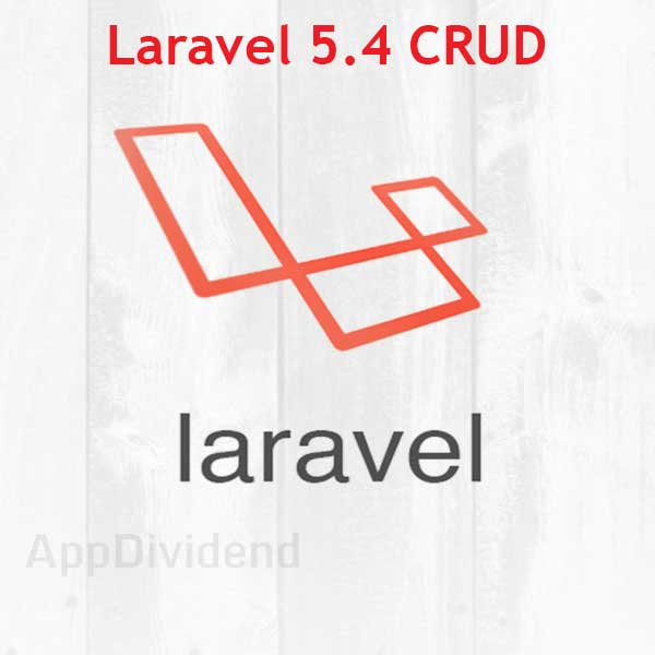 Laravel 5.4 Crud Example From Scratch