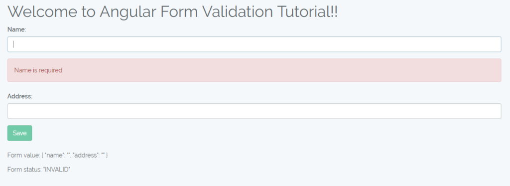 Angular Form Validation Example Tutorial