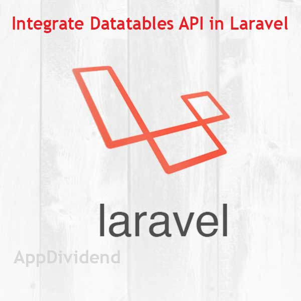 How To Integrate Datatables API In Laravel 5 5 Tutorial