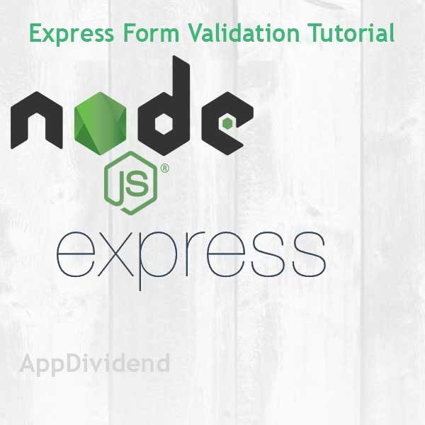 Express Form Validation Tutorial Example From Scratch