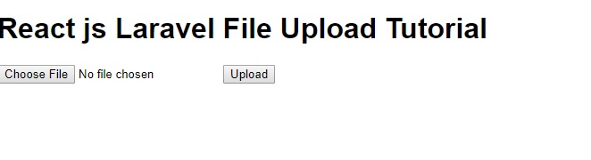 React js Laravel File Upload Tutorial