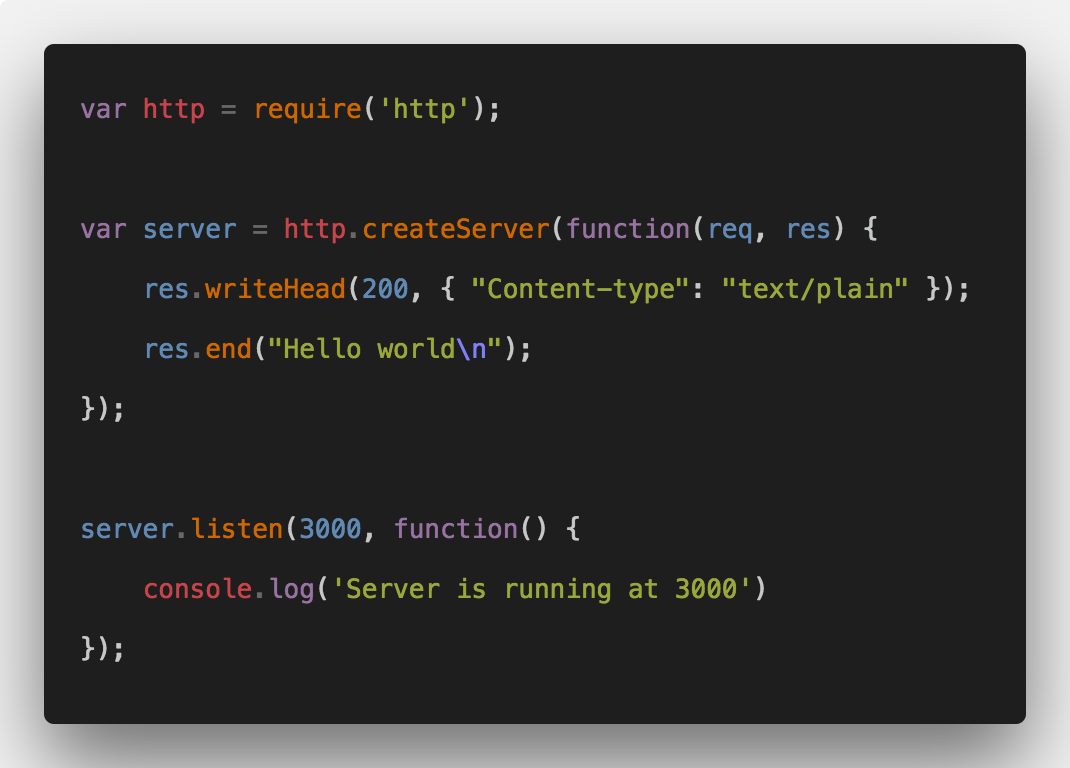 how to build nodejs web server from scratch