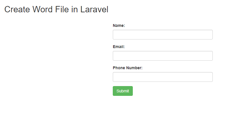 How to Create Word Document File in Laravel