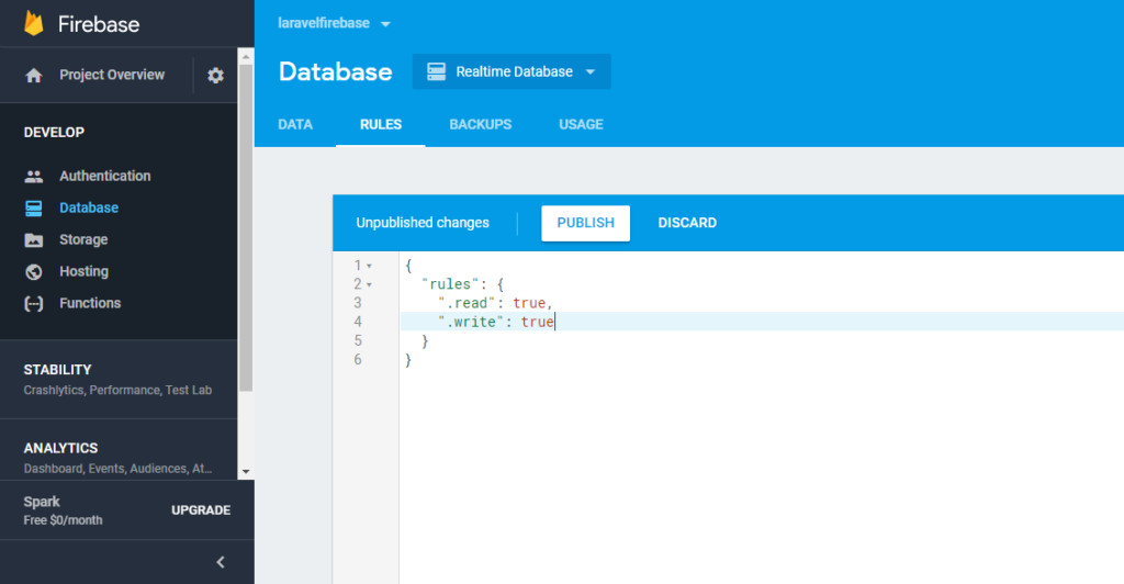 Firebase Database Read Write Access