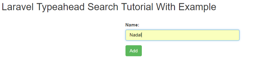 Laravel Typeahead Search Tutorial With Example