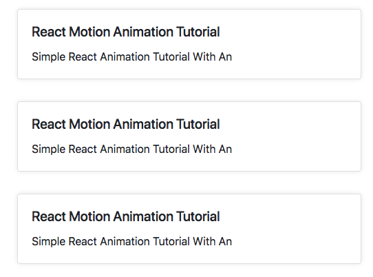 React Motion Animation Example