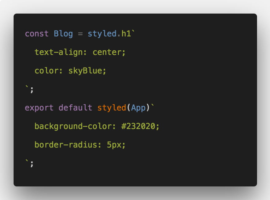 styled component tutorial