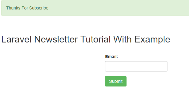 Laravel Newsletter Tutorial with Example