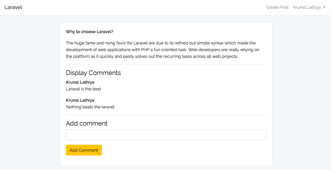 How To Create Comment Nesting In Laravel From Scratch