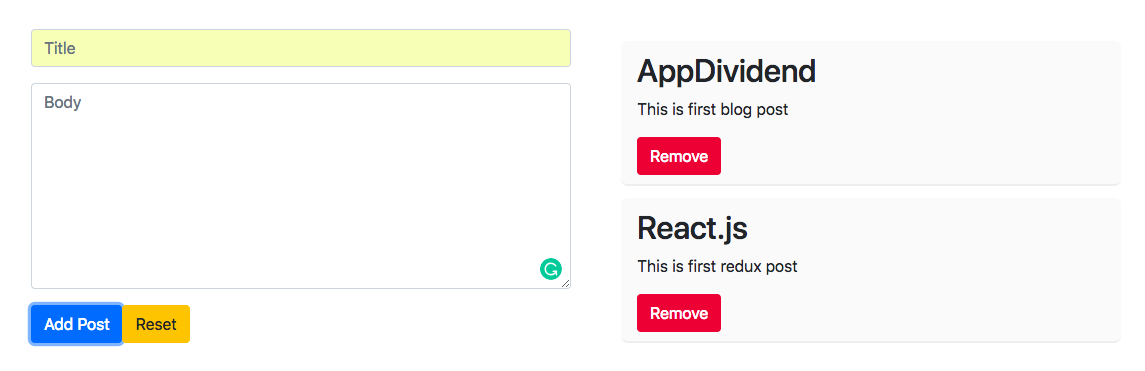 React Redux Example Tutorial