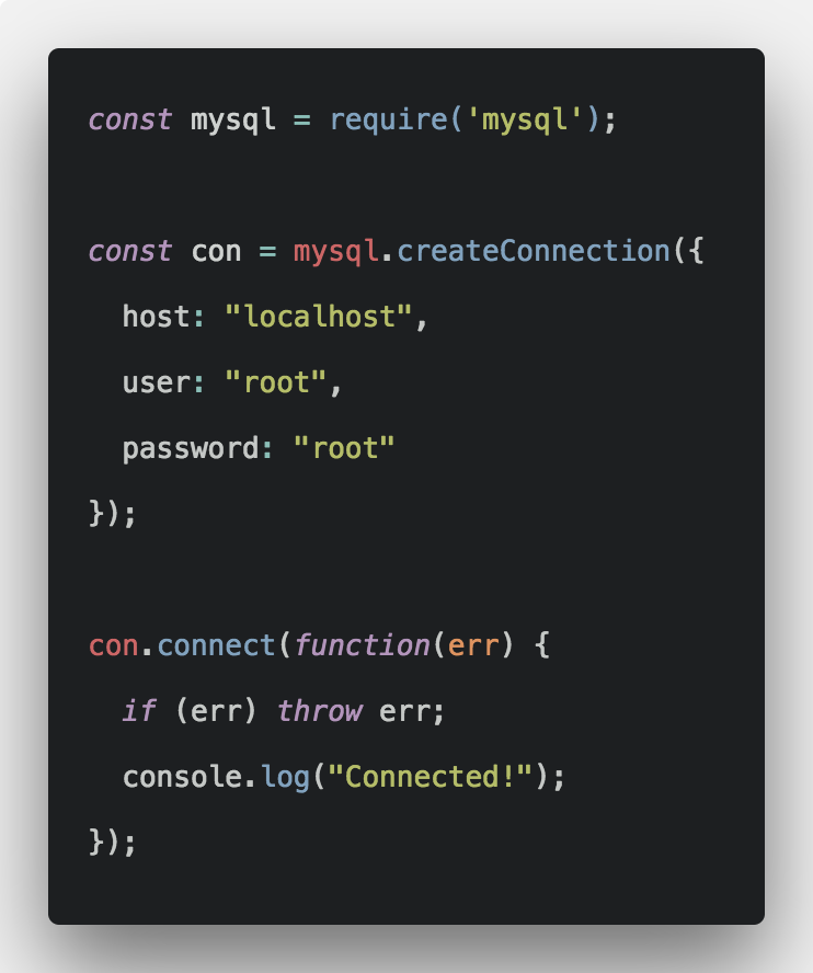 How To Connect Nodejs Application To MySQL Database