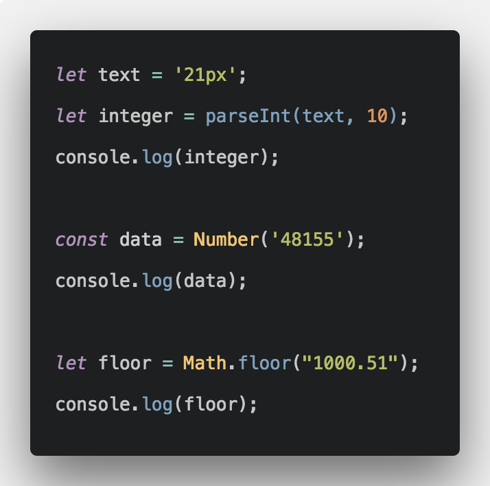 Convert String To Number In Javascript
