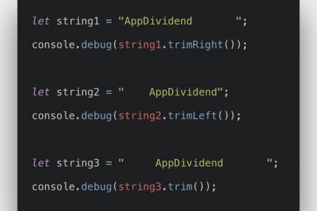 Javascript String Trim Example | String prototype trim