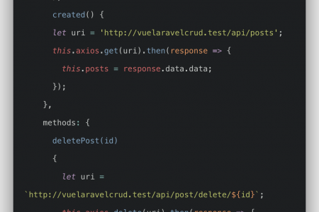 Vue Laravel CRUD Example Tutorial From Scratch
