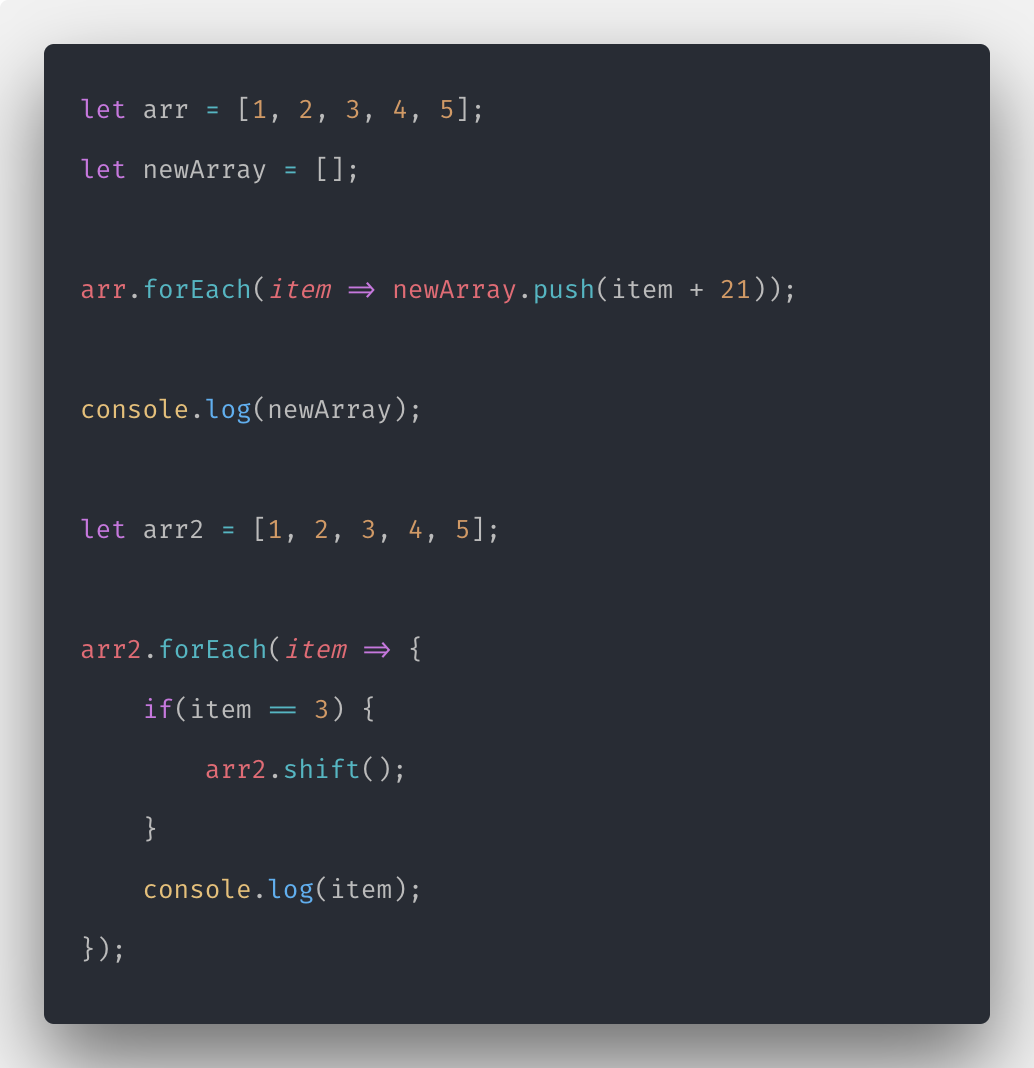 Javascript forEach How to Iterate Array in Javascript