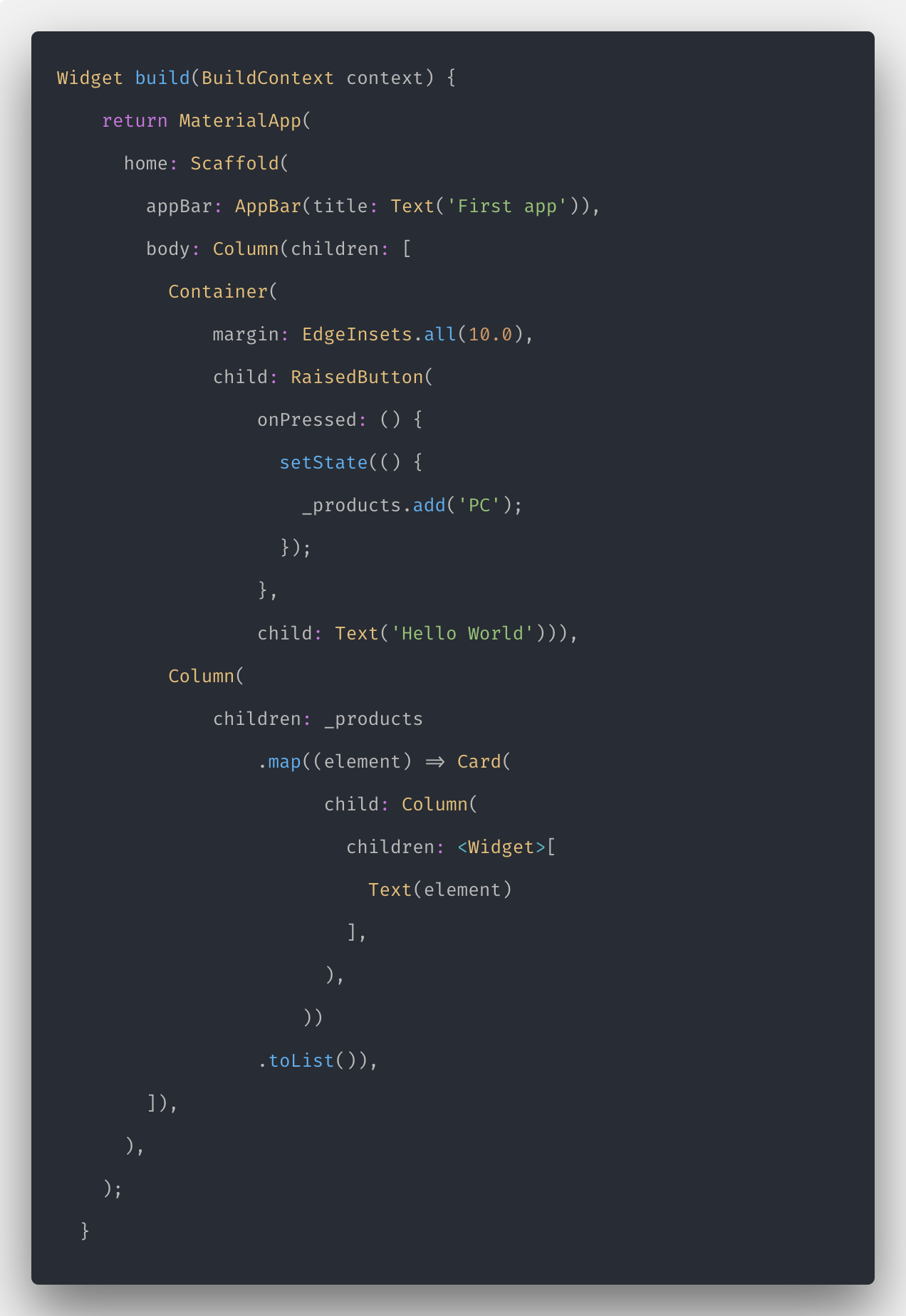 StatefulWidget In Flutter with an example