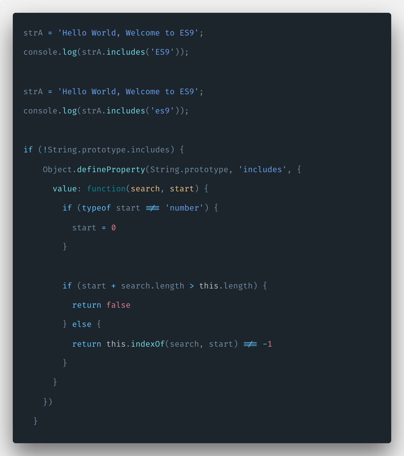 Javascript String Includes: Check String Contains other String