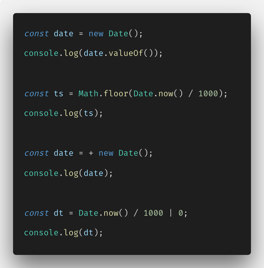 How to convert date string to timestamp in javascript