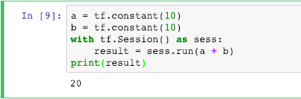 Perform Operation in Tensorflow Session