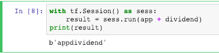 Sessions in Tensorflow