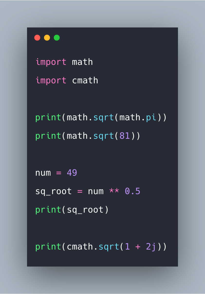 Python Sqrt How To Calculate Square Root In Python