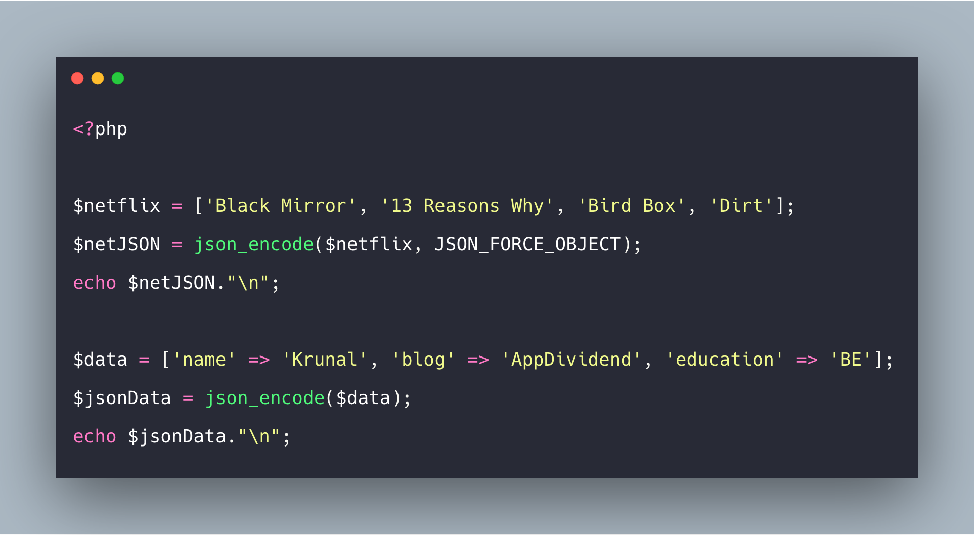 How To Convert PHP Array To JSON Tutorial With Example