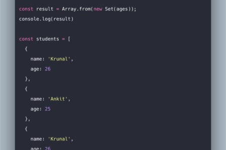 How To Get Distinct Values From Array In Javascript