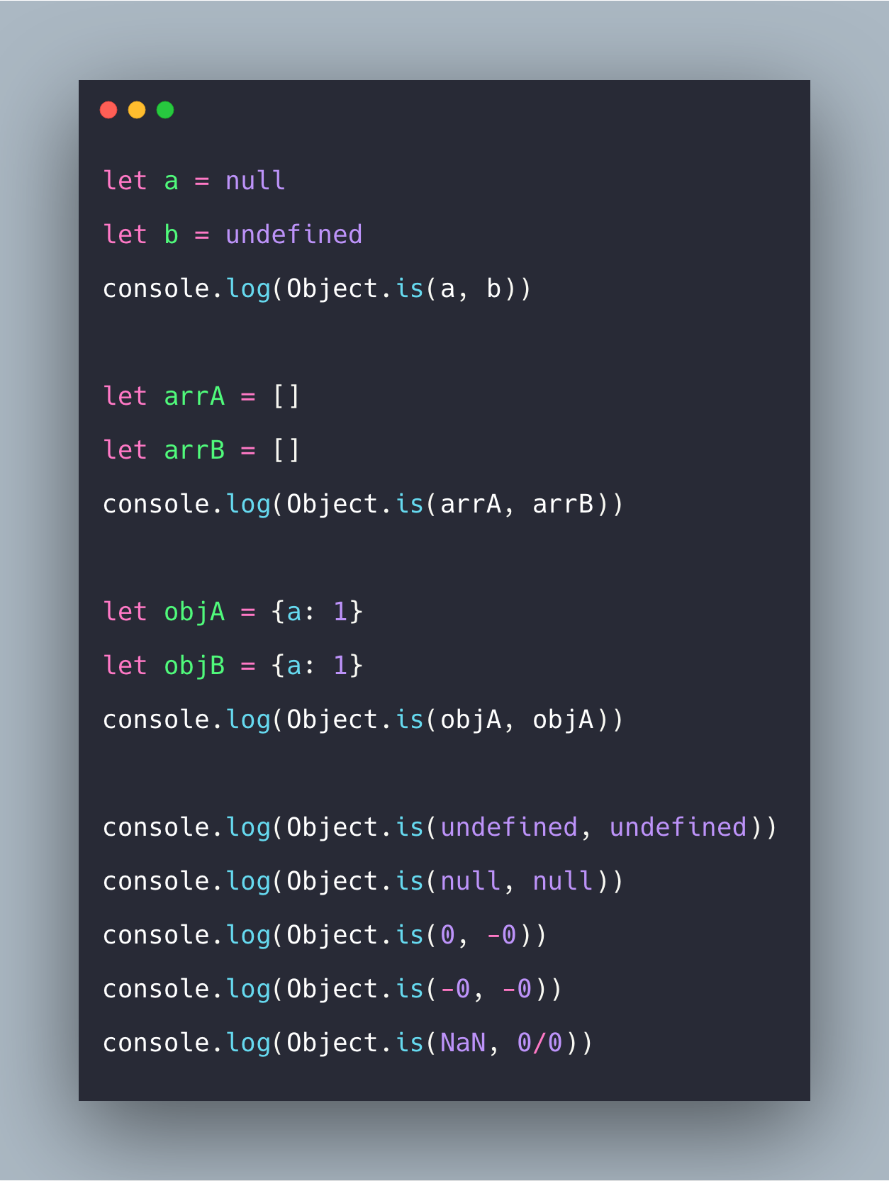 Javascript Object Is Example | Object.is() Tutorial