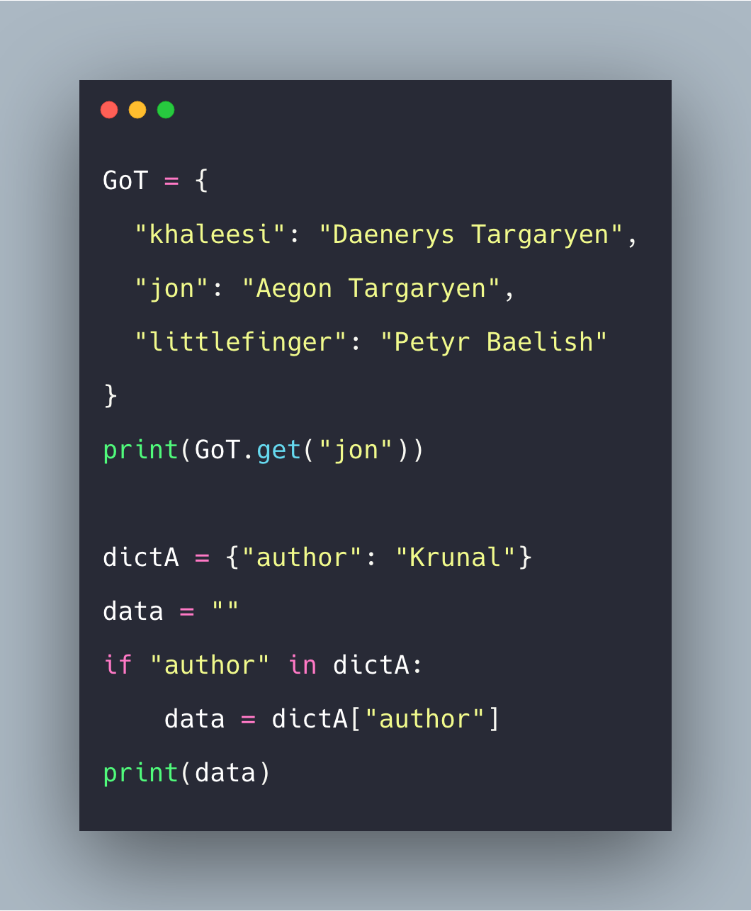Python Dictionary get How to Get Specific Key in Python