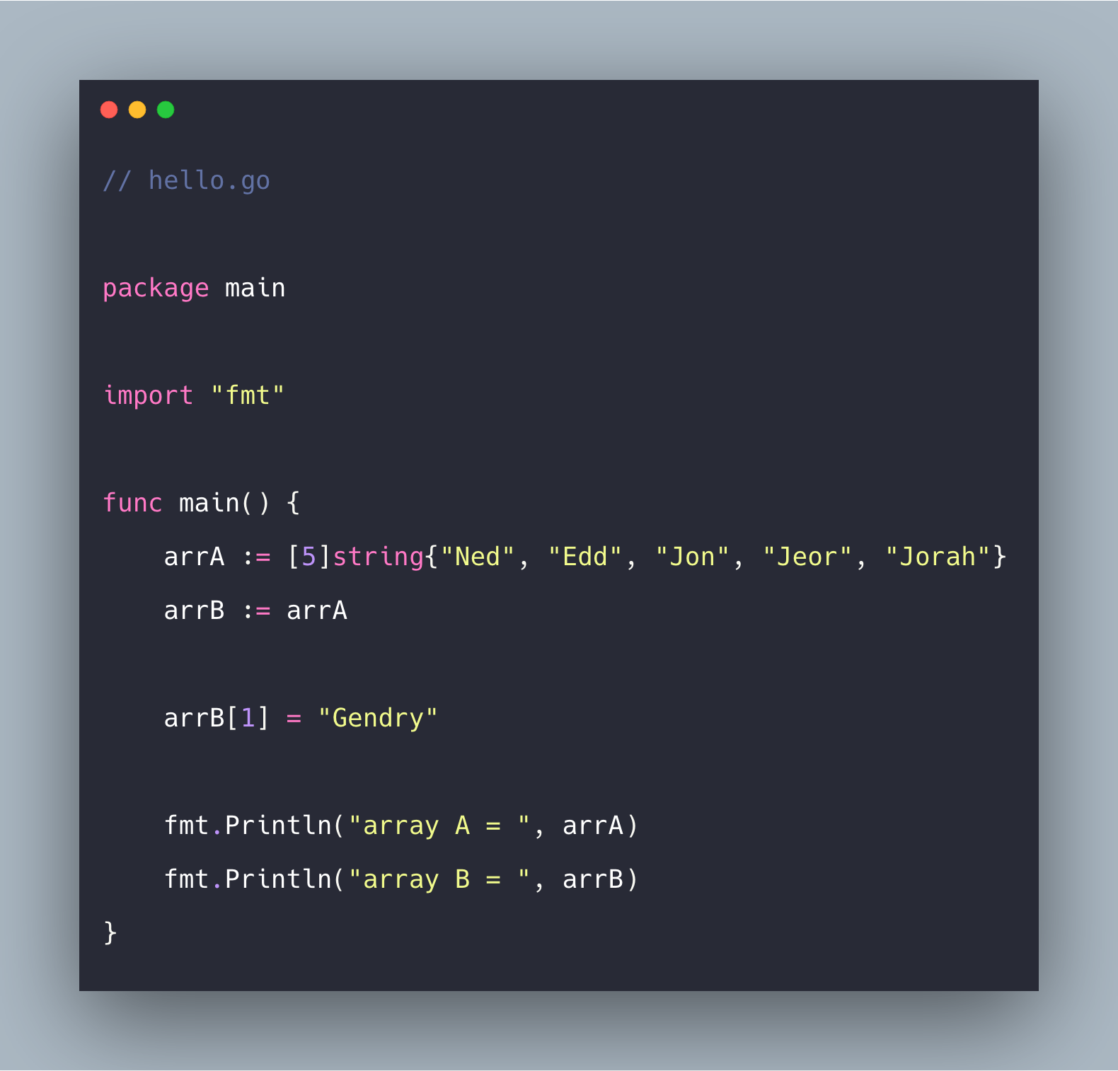 Go Arrays Tutorial With Example | Arrays in Golang Explained