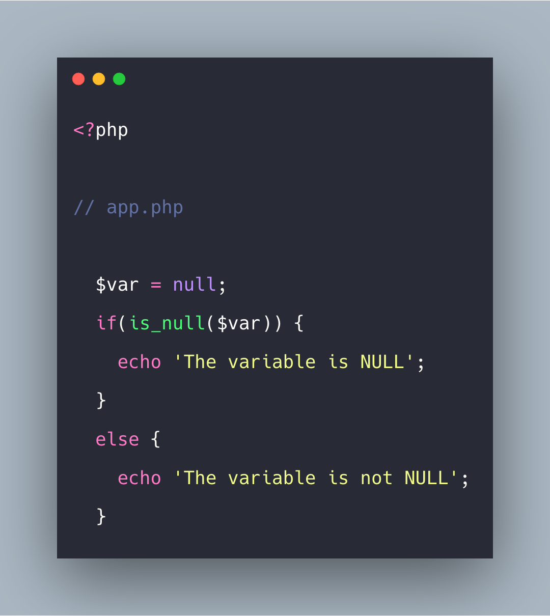 How To Check Variable Is NULL in PHP | PHP is_null() Tutorial Example