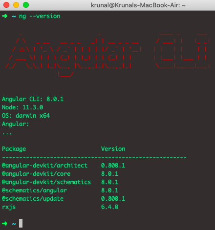 Angular 8 CLI Upgrade Example