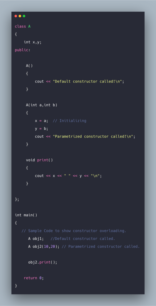 C++ Constructor Tutorial With Example   Constructors in