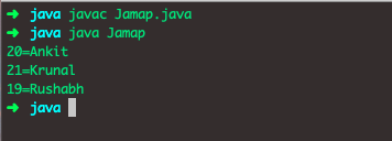 Java Map Example comparingByValue()