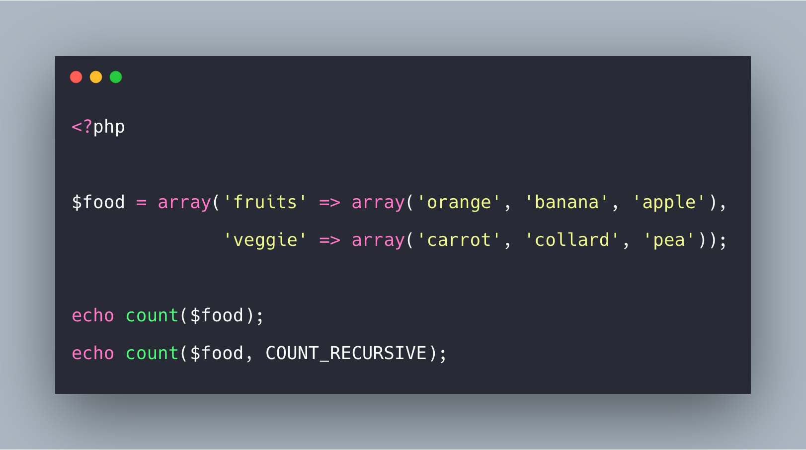 PHP Array Count Example | PHP count() Function Tutorial
