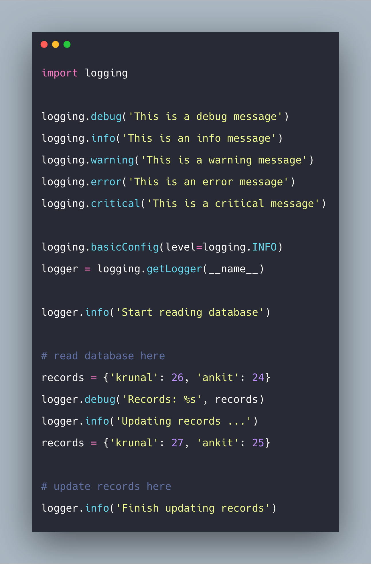 Python Logging Tutorial With Example | Logging in Python