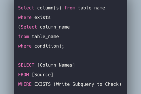 SQL EXISTS OPERATOR Tutorial With Example