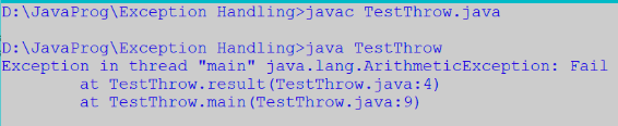 Throws in Java