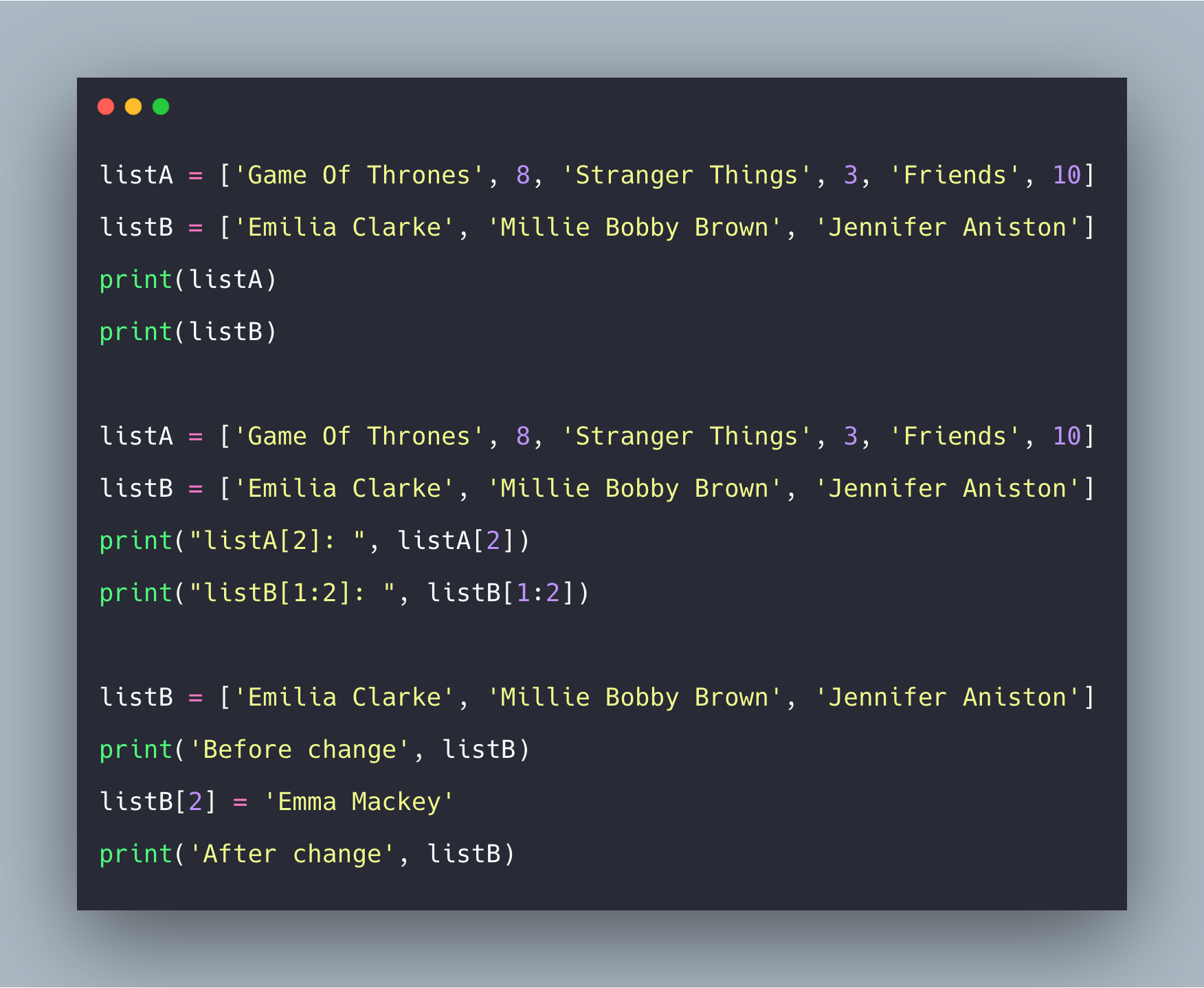 Python List Example: How to Use List Data Structure