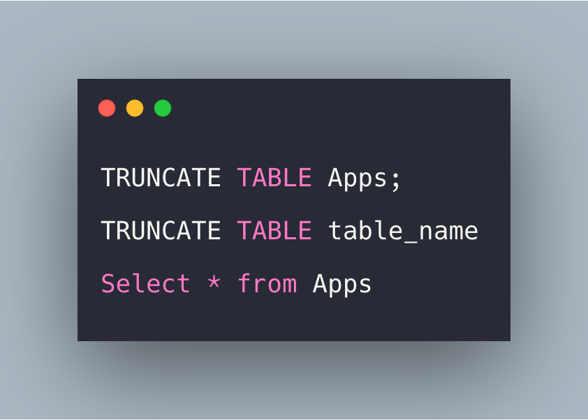 SQL Truncate Table Statement Tutorial With Example