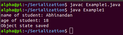 Serialization and Deserialization in Java Tutorial With Example