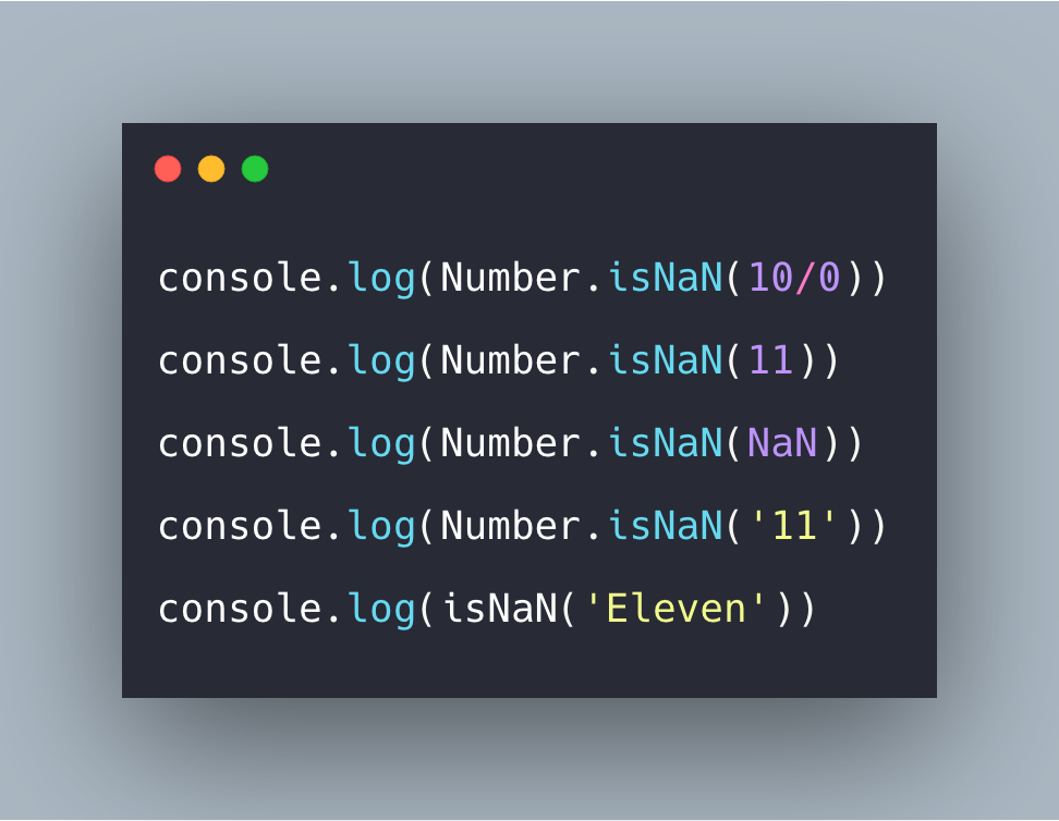 Javascript Number isNaN() Function Example