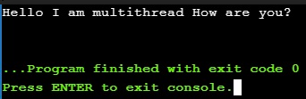 Multithreading In C++