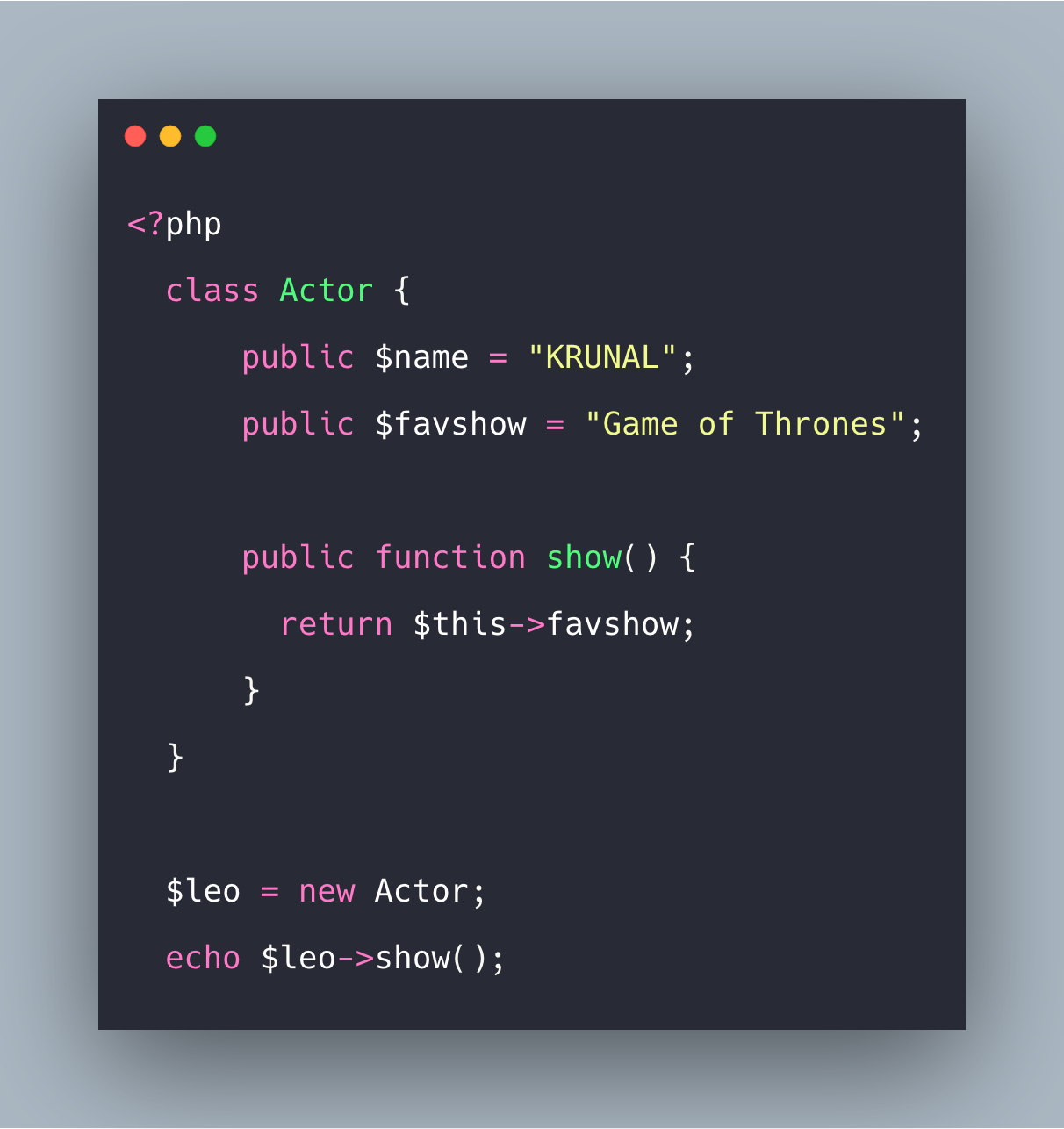 PHP Class Example | Basics Of Class In PHP Tutorial