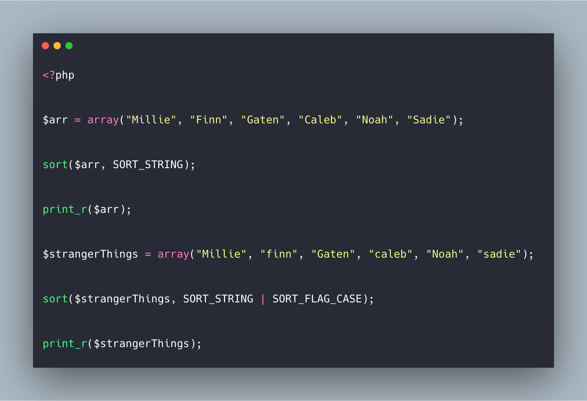 PHP sort Function Example | How To Sort Array In PHP
