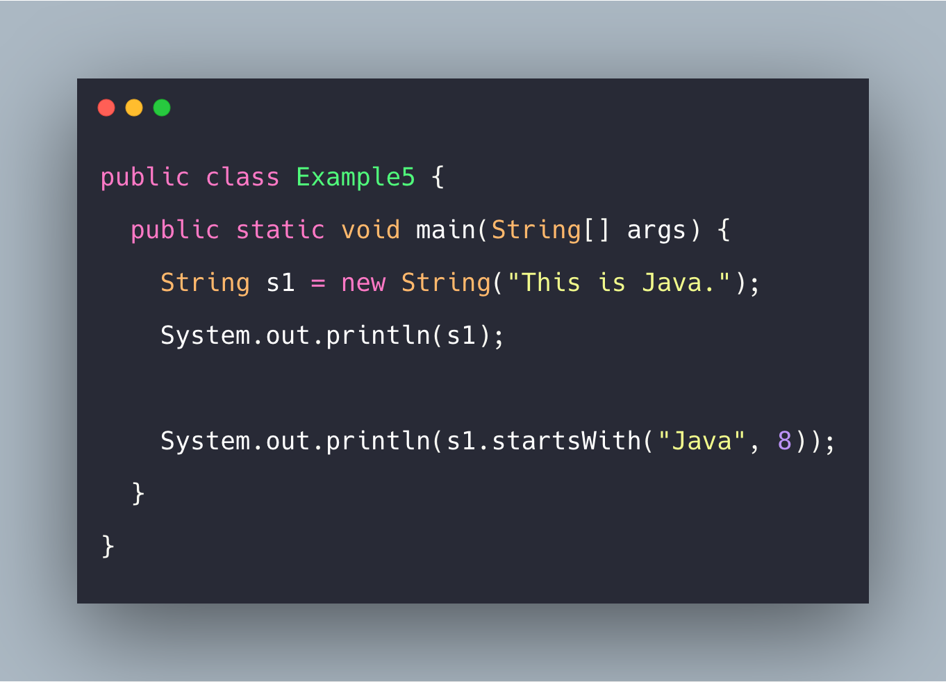 Java String startsWith() Function Example Tutorial