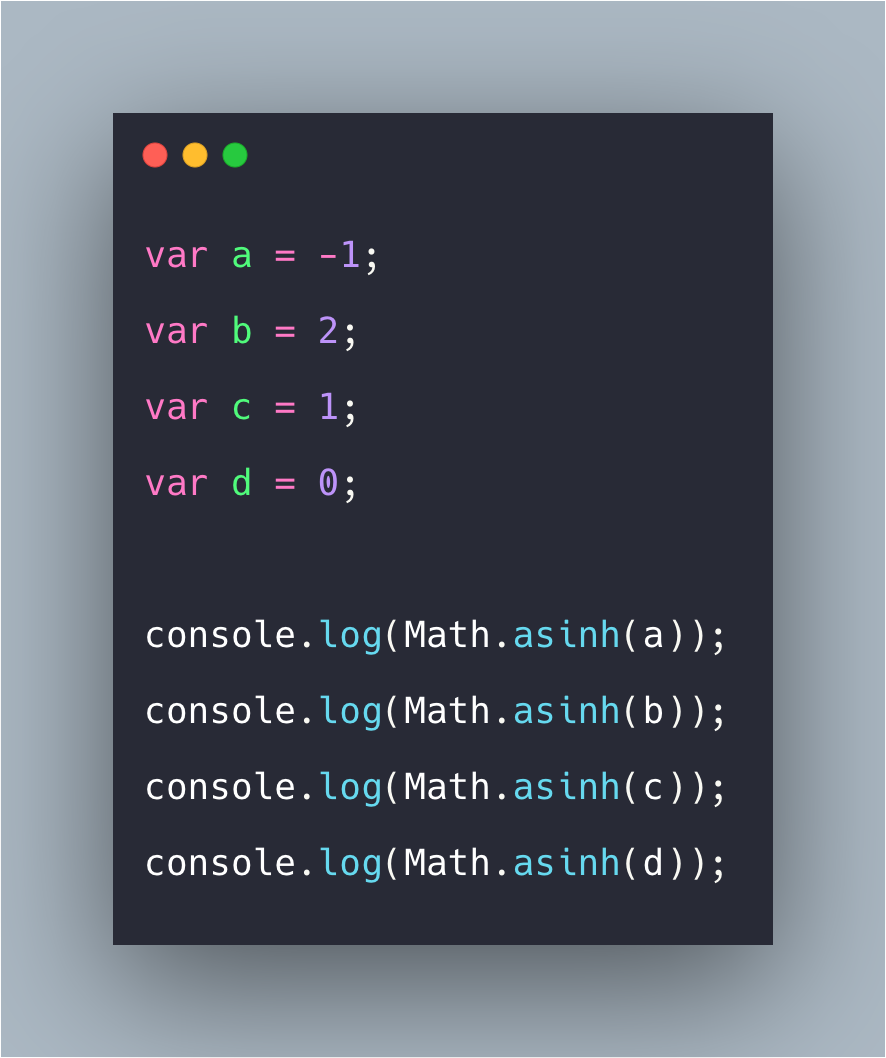 JavaScript Math asinh Function | Math.asinh() In Javascript