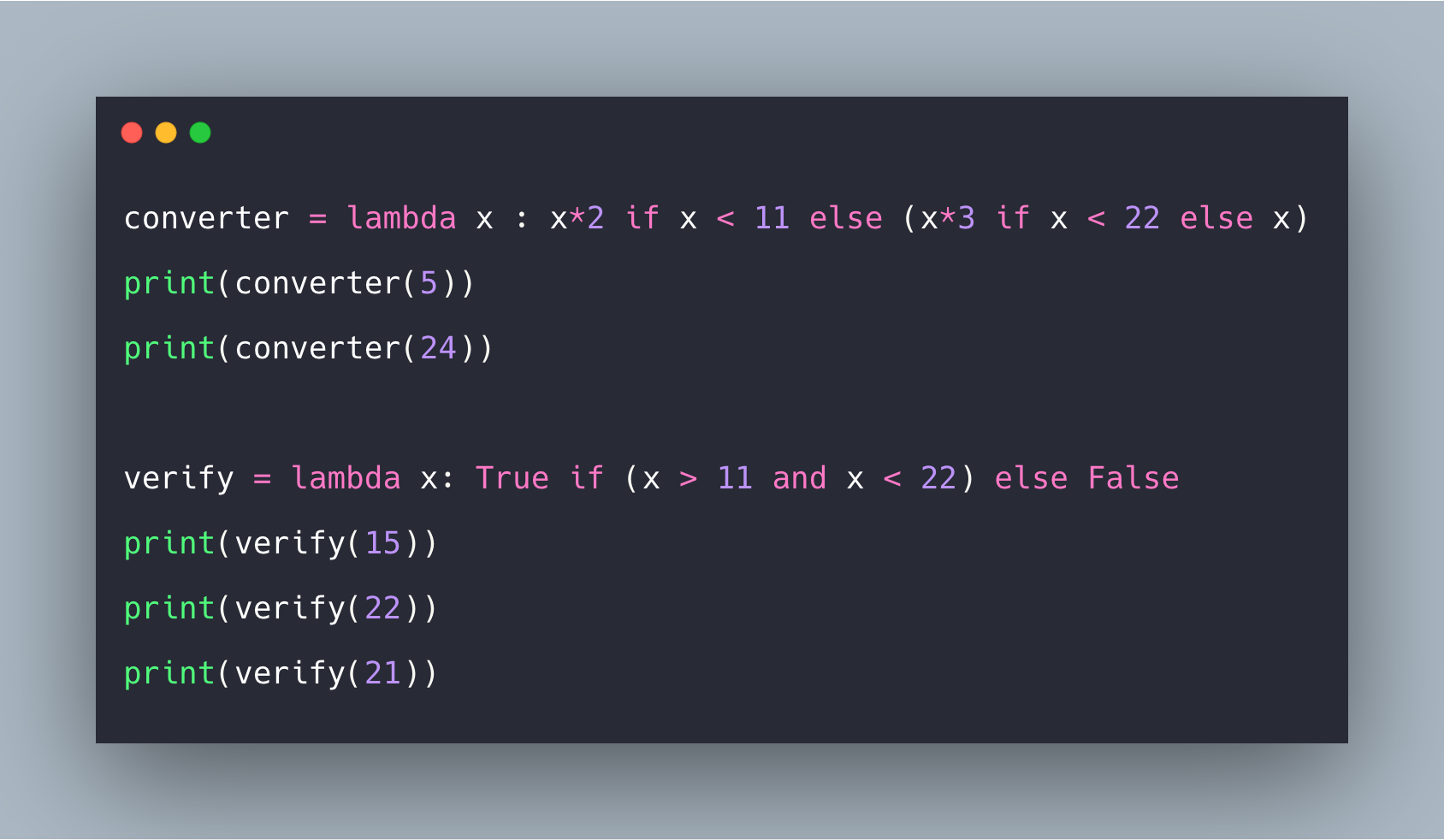 How to Use If, Else and Elif in Lambda Functions in Python