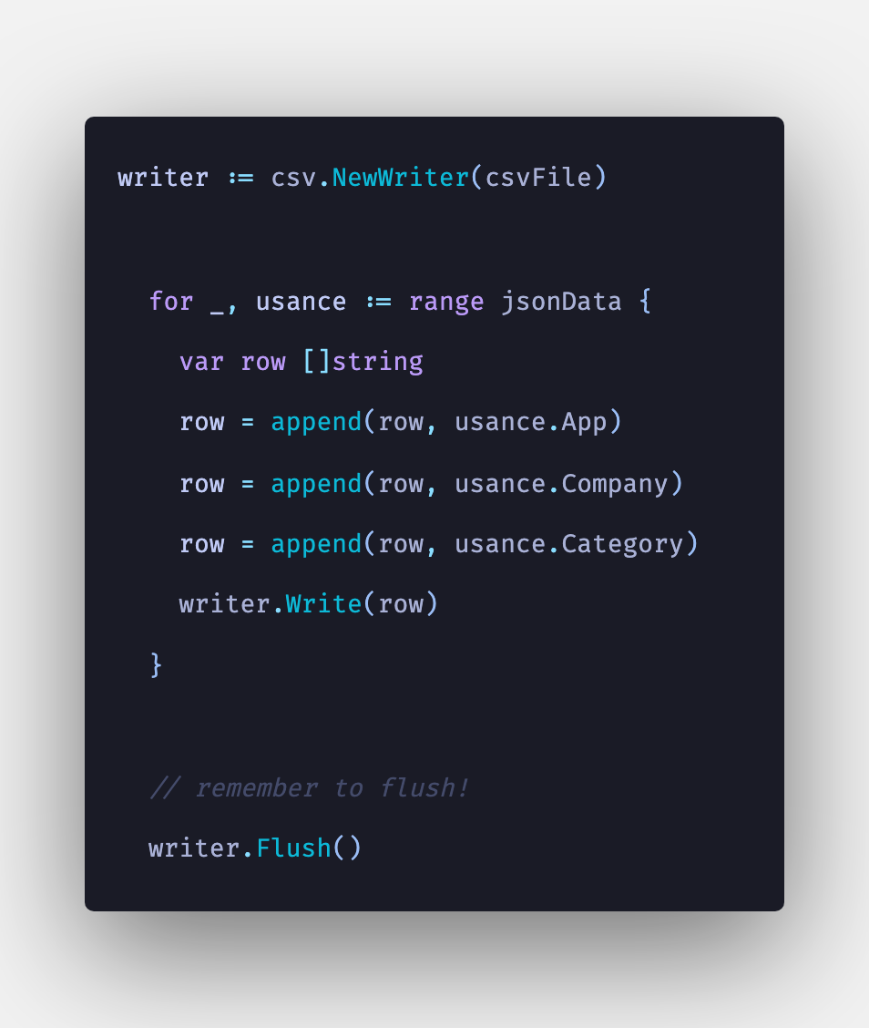 How To Convert JSON to CSV in Golang Example