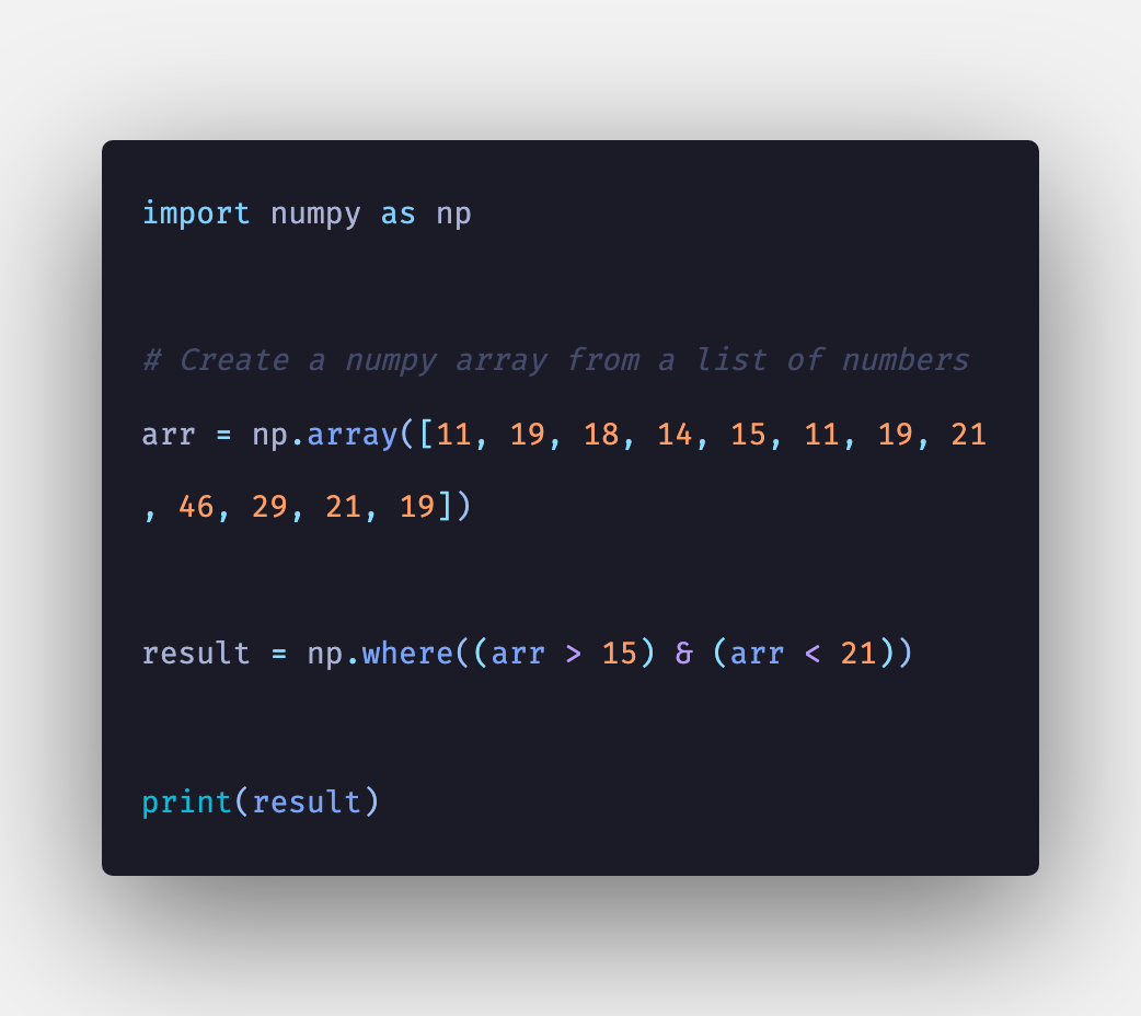 Python: How To Find The Index of Value in Numpy Array